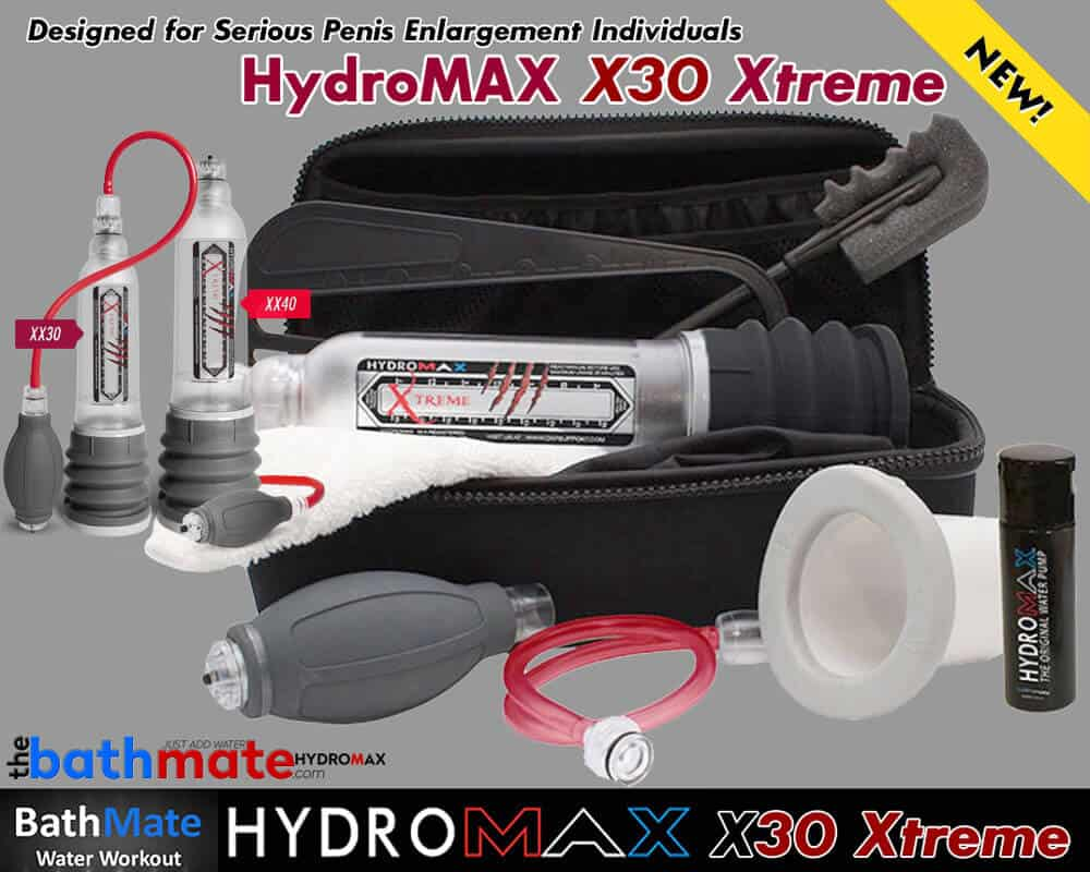 Bathmate Hydromax X30 Xtreme Penis Enlargement Pump And Kit